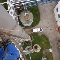 Roztoky u Prahy – měření tloušťky ocelového komína